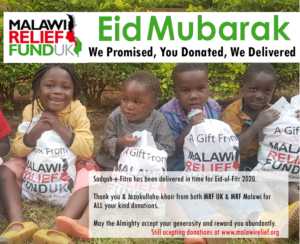 Eid Mubarak-We Promised, You Donated, We Delivered.