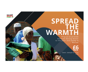 Share the Warmth. Donate a blanket for £6each