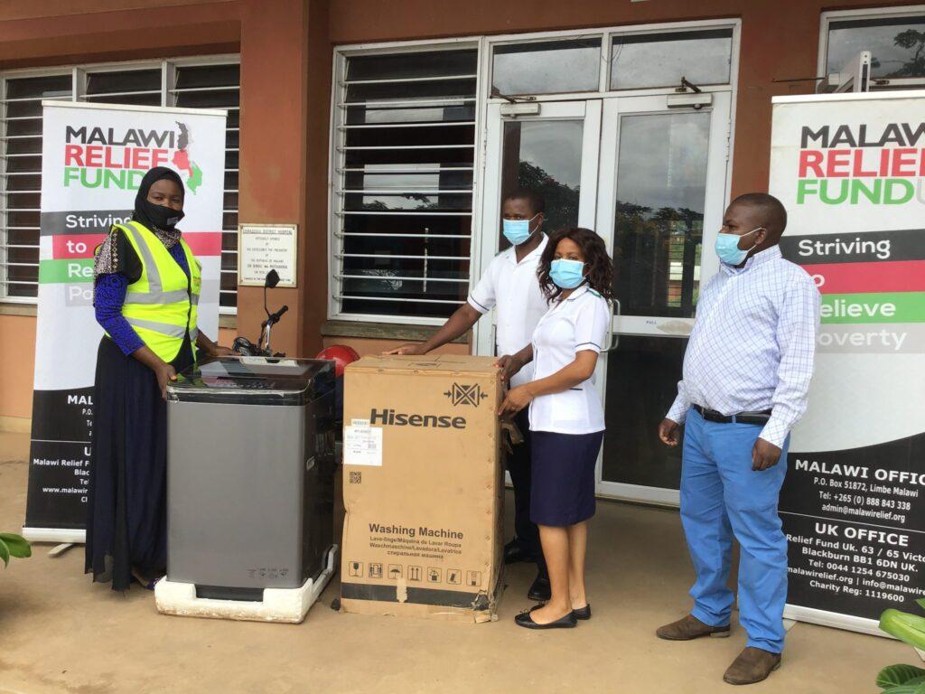 Malawi Relief Fund UK donates washing machine to Chiradzulu Hospital
