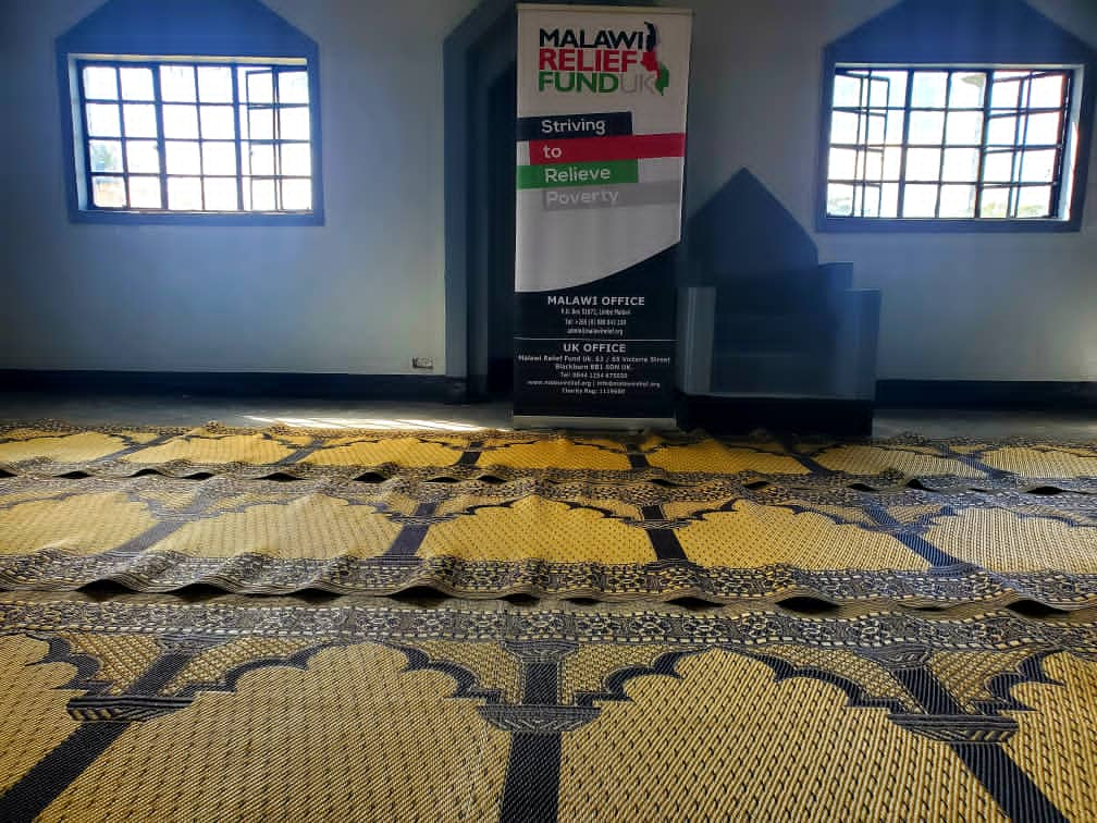 Musallah Deliverd To Masjid 2021 10 Musallah Donations Delivered To Masajids in Malawi - Malawi Relief Fund UK