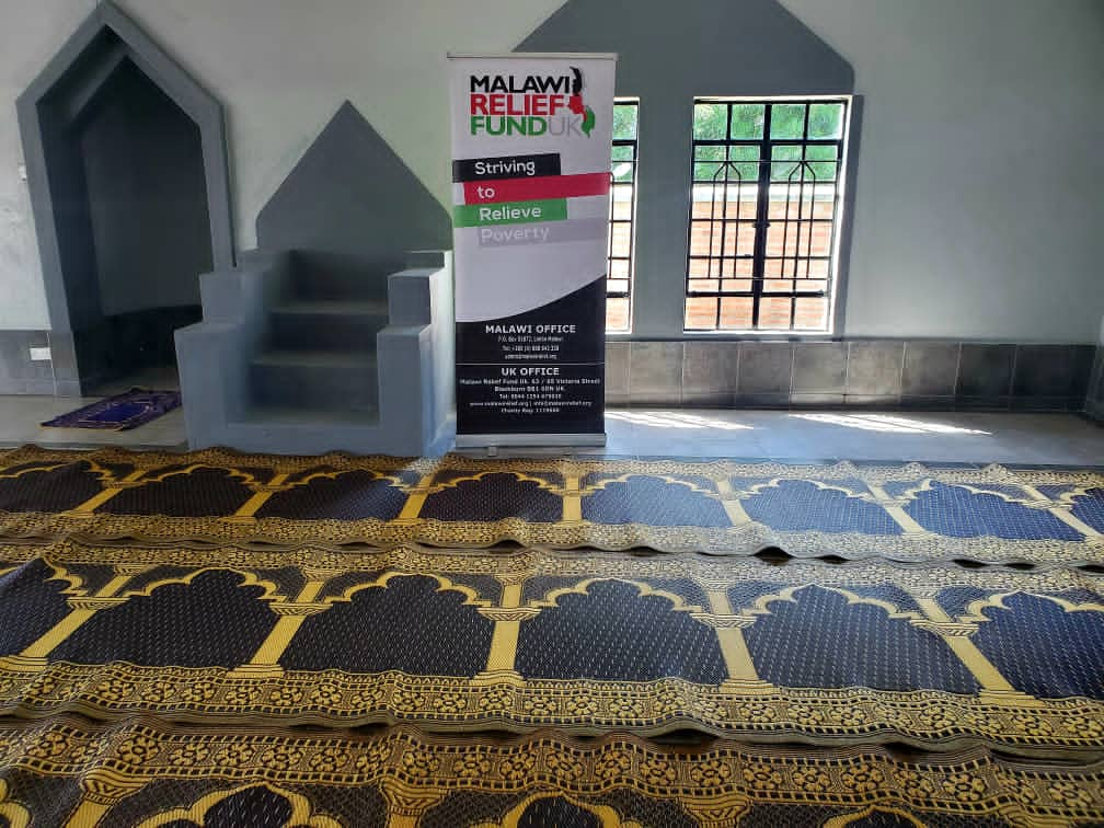 Musallah Deliverd To Masjid 2021 2 Musallah Donations Delivered To Masajids in Malawi - Malawi Relief Fund UK