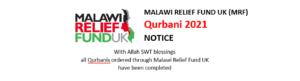 Malawi Relief Fun 2021 Qurbani Completed